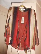 "Highly Sought After Designer ""All in One"" Blouse by GUITENG: Size M:BNWT"