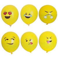100/1X Emoji Mylar Balloons Yellow Smiley Faces Emotions Birthday Party Decor WB