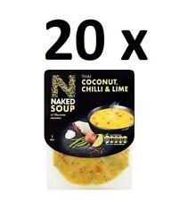 20 x nue soupe thai noix de coco, Piment & Lime 300 g Full Case BBE 31/03/20 Bar...