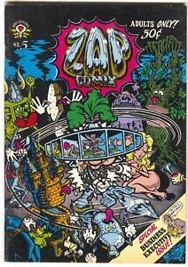 Zap Comix 5 Apex Novelties 1969 FN VF 1st Print Robert Crumb Robt Williams