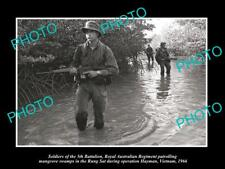 OLD LARGE HISTORIC PHOTO OF AUSTRALIAN MILITARY 5th BATTALION VIETNAM 1966