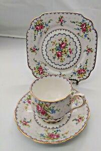Royal Albert Petit  Cup & Saucer with dessert plate (Trio Set)
