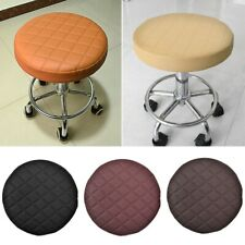 Round Bar Stool Cover Faux Leather Barstool Cover Thick Seat Cushion Proctector