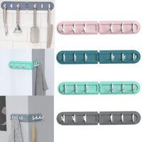 6 Row Hooks Folding Corner Hook Home Bathroom Hooks No Trace Back Door Hooks