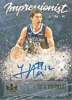 Yuta Watanabe 2019-20 Panini Court Kings Impressionist Ink Auto /149 Grizzlies