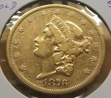 1876-S~~$20 DOLLAR GOLD DOUBLE EAGLE~~VF BEAUTY