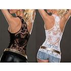 Sexy Women Summer Lace Vest Top Sleeveless Shirt Blouse Casual Tank Tops T-Shirt