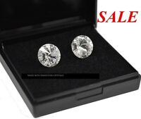 925 Sterling Silver Studs Crystal (Clear) 12mm Rivoli Crystals from Swarovski®