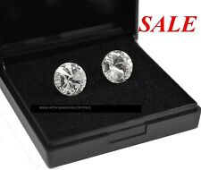 925 Sterling Silver Studs Crystal (Clear) Rivoli Crystals from Swarovski®