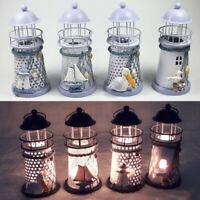 Lighthouse Candlestick Candle Holders Tea Lights Mediterranean Decor Xmas