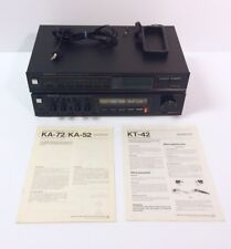 Vintage Kenwood KA-72B Power Amp and KT-42B Tuner, w/Manuals, Tested and Working