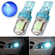 2pcs T10 194 W5W COB LED Auto Silica KFZ-Kennzeichen Glühbirne Eis blau 12V hell