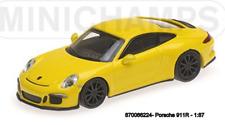 Minichamps 870066224 -porsche 911 R – 2016 – Giallo W/ Nero Cerchi 1:87