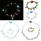 LED Light Up Christmas Bulb Necklace&Bracelet  Favors for Adults or Kids Holiday