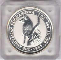 1995 KOOKABURRA 1oz Silver Coin in Slab