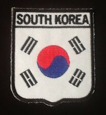 SOUTH KOREA KOREAN NATIONAL COUNTRY FLAG BADGE IRON SEW ON PATCH CREST SHIELD