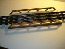 "DEALER WHOLESALE LOT SIX ON30 & 0 & HO SCALE MADE IN USA WOOD BRIDGES 10"" LONG"