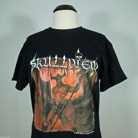 SKULLVIEW Emitting Hate From Our Chords T-Shirt size L (R.I.P. Records) (NEW)