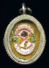 old relic theca SS.FRANCISCI SALESII et FRANCISCI ASSISIENSIS. 19Th.