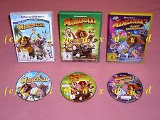 3x DVD _ Madagascar & Madagascar 2 & Madagascar 3 Flucht durch Europa