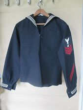 Vintage US NAVY  Mans Undress Blue Jumper with patches