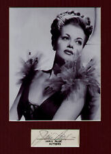 JANIS PAIGE signed match book cover + pic in display.  UACC RD retiring SALE