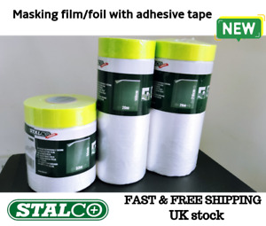 Clear Adhesive Sheet Protective Film Dust Foil Cover Masking Stalco Painting