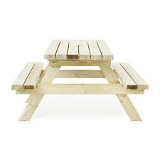 4ft Pressure Treated Wood Picnic Table Bench Commercial Grade Pub Garden Outdoor