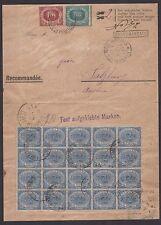 STORIA POSTALE San Marino 1894 Raccomandata per Salisburgo SPL (RSM)