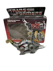 Vintage 1984 G1 Transformers  SLUDGE with instructions Original Dinobot  Hasbro