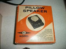 VINTAGE 1950's KORD PILLOW SPEAKER IN BOX excellent condition !!!!!!