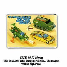 UFO SHADO MOBILE /STRAKERS CAR DINKY TOYS ADVERT - JUMBO FRIDGE / LOCKER MAGNET