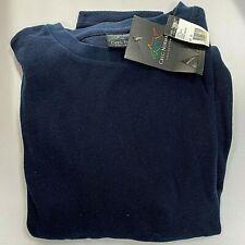 Mens Greg Norman Navy Waffle Shirt Long Sleeve Size 2XL BRAND NEW