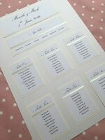 A2 Wedding Table Plan Ribbon 'Sofia' - up to 7 tables inc Top Table