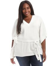 NEW Michael Kors plus size 1X Belted  Poncho sweater, retail $140