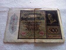 500 mark 1922 Germany banknote