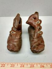 Antique Victorian Leather Baby Booties Shoes - Pair