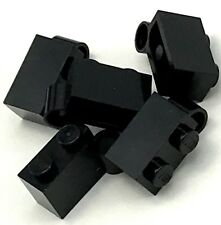 Lego 5 New Black Hinge Brick 1 x 4 Swivel Base Pieces