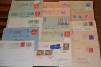 36 Briefe Berlin ab 1948 mit Schwarzaufdruck, Rotaufdruck, Glocken, Männer etc.