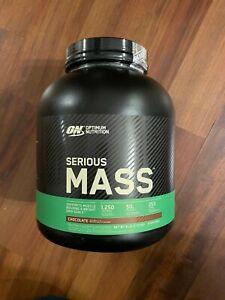 Optimum Nutrition Serious Mass Weight Gainer Protein Powder, Chocolate, 6 Lb