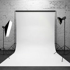 Best Pure Color White Photo background Thin Vinyl Backdrops Studio props 5x7ft