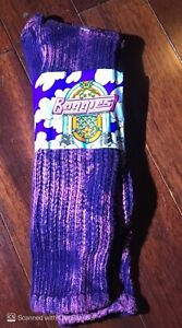 WOW! 80's Vintage BAGGIES socks similar to E.G. Smith boot slouch PINK ACID WASH