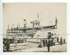 Vintage Photograph, Lincoln Park Boat Line, Silver Spray, Chicago, 1915