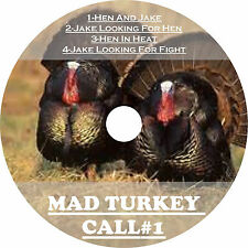 GAME CALLS 3 DIFFERENT CD'S TURKEY HUNTING #1, #2 & #3 TURKEY CALLS ONE LOW $$