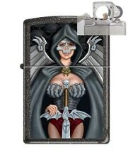Zippo 211 Skull Woman Warrior Lighter with PIPE INSERT PL