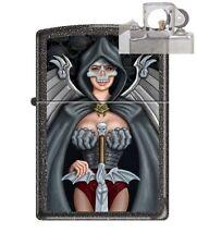 Zippo 211 Skull Woman Warrior Lighter with PIPE INSERT PL