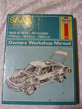 SAAB 99 HAYNES SERVICE & REPAIR MANUAL 1969 ~ 1979 1709 1854 1985 CC