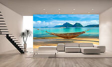 A Hammock, Beach Wall Mural Photo Wallpaper GIANT DECOR Paper Poster Free Paste