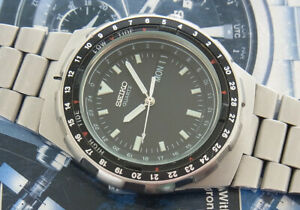 Ultra rare Seiko Fishing Master 8123-7250 Quartz tide function Japan gent watch