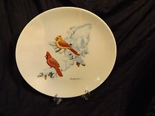 Cardinals In Snow - Albert Earl Gilbert - 1974 Christmas Collectors Plate